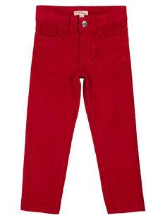 Rote Samthose Regular Fit GOJOPAVEL4 / 19W90233D2BF508