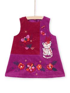 Baby Mädchen lila ärmelloses Kleid MIPAROB3 / 21WG09H4ROB712