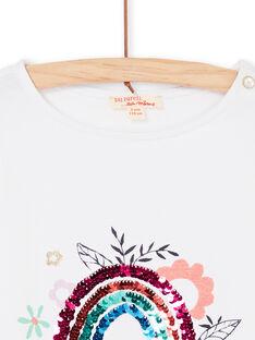 Kurzarm-T-Shirt, Girlie-Print und Regenbogen in magischen Pailletten LAVITI3 / 21S901U1TMC000