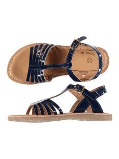 Sandalen aus Lackleder für draußen Mädchen FFSANDOLI5 / 19SK35CAD0E070