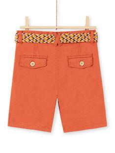 Bermuda Shorts Sandplatz Kind Junge LOTERBER3 / 21S902V1BERF519