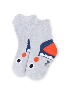 Baby Junge grau Hai Animation Socken LYUVICHO1 / 21SI10U1SOQJ920