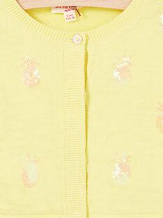 Langärmelige Weste mit Ananas-Pailletten-Stickerei LAJAUCAR1 / 21S901O2CAR116