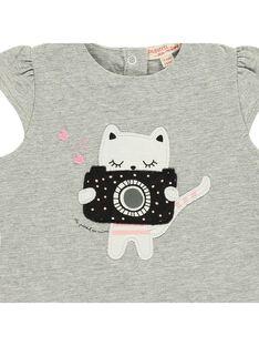 Baby girls' short-sleeved T-shirt CIBENTI / 18SG09G1TMC099