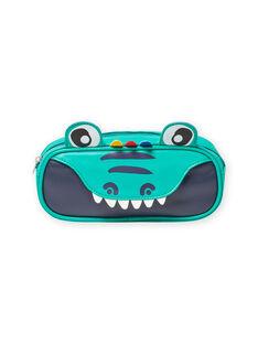 Grünes Federmäppchen für Baby-Jungen mit Krokodil-Muster MYOCLATROU / 21WI02G1TROG614