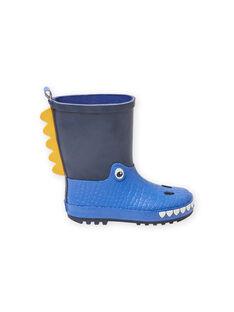 Baby Junge regen Stiefel in marineblau mit Drachen-Design MOPLUIDRAGO / 21XK3612D0C070
