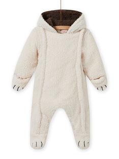 Baby Boy's ecru Sherpa Bär Anzug MUGROPIL / 21WG1061PIL001