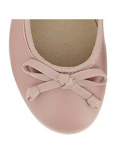 Girls' leather ballet pumps CFBALET / 18SK35W1D41030