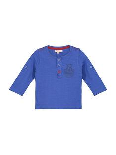 Baby-T-Shirt mit tunesischem Kragen für Jungen FUJOTUN2 / 19SG1032TMLC207
