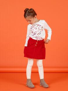 Roter Rippenrock für Mädchen MACOMJUP1 / 21W901L2JUP408