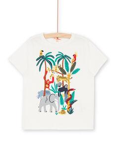 T-Shirt kurze Ärmel ecru Kind LOVITI4 / 21S902U4TMC001