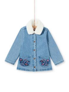 Blaue Jeansjacke für Mädchen MAPAVESTE / 21W90151VESP274