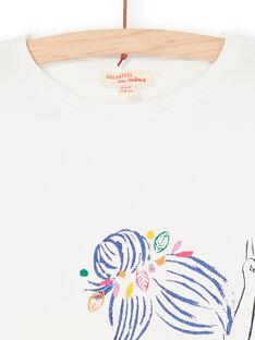 T-Shirt in Ecru und Blau LANAUTI2 / 21S901P1TMC001