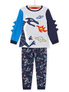 Schlafanzug mit phosphoreszierendem Drachenmuster für Kinder Jungen MEGOPYJGON / 21WH1295PYJJ922