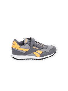 Kind Junge graue Reebok-Sneakers mit gelben Details MOG58315 / 21XK3643D36940