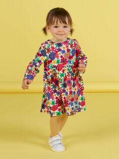 Langärmeliges Kleid mit Blumendruck für Baby-Mädchen MIMIXROB3 / 21WG09J2ROB001