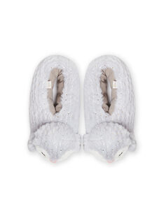 Graue Pinguin-Pantoffeln 3D Kind Mädchen MAPANTPING3D / 21XK3531PTD940
