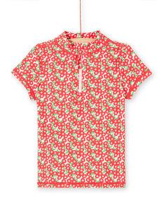 Rosa Anti-UV-T-Shirt Kind Mädchen LYAMERLUVEX / 21SI01D2TUV309