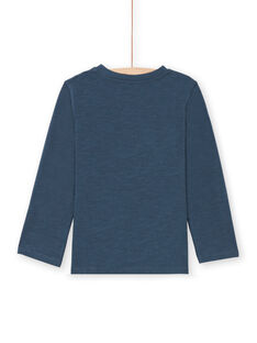 Marineblaues T-Shirt für Jungen MOCOTEE3 / 21W902L2TMLC202