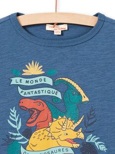 Blaues Langarm-T-Shirt für Baby-Jungen mit Dinosaurier-Design MOPATEE2 / 21W902H2TML219