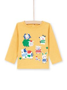 Baby Boy T-Shirt gelb MUMIXTEE2 / 21WG10J3TML117