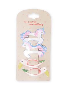 Set mit 4 passenden Haarspangen für Mädchen MYAJOCLIC6 / 21WI01S6BRT957