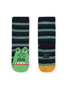 Junge nachtblaue Socken mit Monstermotiv MYOTUCHO / 21WI02K1SOQ705