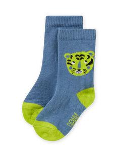 Himmel und grüne Tigersocken für Jungen MYUJOCHOU2 / 21WI101BSOQ020