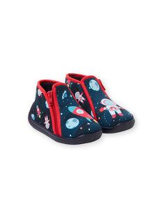 Baby Junge Marineblaue Hausschuhe KBGBOTCOSM / 20XK3811D0A070