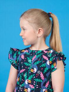 Kleid mit schwarzem und grünem Tukan-Print LANAUROB1 / 21S901P2ROBC205