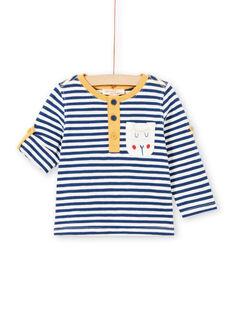 Baby Boy Langarm gestreift Roll Up T-Shirt MUJOTUN2 / 21WG1024TML713