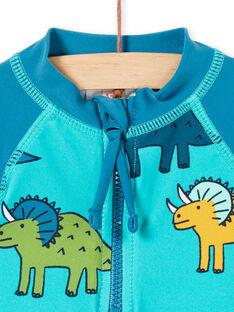 Anti-UV-blaues und türkisfarbenes Baby-Jungen-T-Shirt LYUTEEUVEX2 / 21SI10D3TUVC215