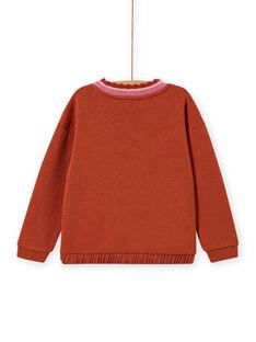 Giraffen-Sweatshirt für Mädchen mit Pailletten MACOMSWEA / 21W901L1SWE420
