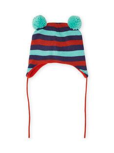 Baby Junge Streifen und Pompons Mütze MYUGROBON / 21WI1054BONC234