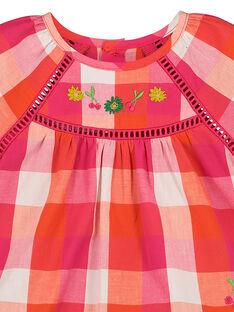 Karierte Baby-Bluse für Mädchen FIYECHEM / 19SG09M1CHE000