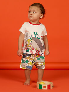 T-shirt ecru baby boy LUVITI1 / 21SG10U3TMC001
