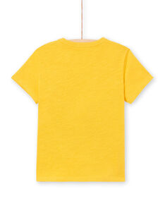 T-Shirt kurze Ärmel gelb Junge LOTERTI2 / 21S902V5TMCB114