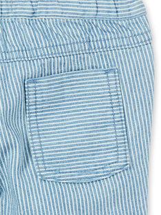 Gestreifte Baby-Jeans mit Gürtel LUCANPAN1 / 21SG10M1PANP272