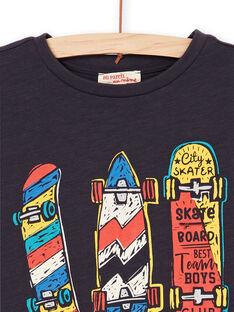 Schwarzes und rotes T-shirt - Junge LOPOETI2 / 21S902Y1TMCJ900