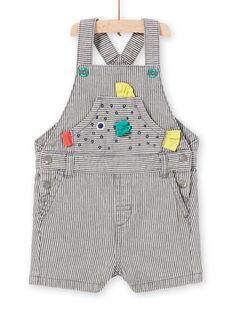 Graue Latzhose gesprenkelt Baby Junge LUVISAC / 21SG10U1SAC943