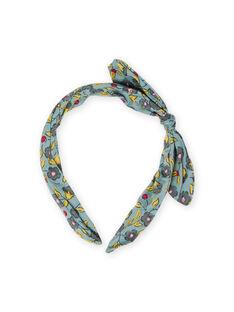 Stirnband mit Blumenmuster für Mädchen MYAJOSERR1 / 21WI01S4TET612