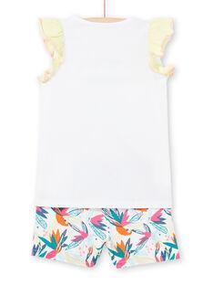 Weißer Pyjama für Mädchen LEFAPYJFLY / 21SH11C7PYJ000