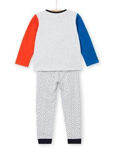 Kinderschlafanzug aus gebürstetem Vlies mit Monster-Motiv LEGOPYJMON / 21SH1212PYJJ920