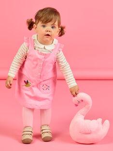 Baby Mädchen rosa Cord-Pullover Kleid MIKAROB2 / 21WG09I2ROBD316