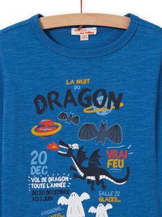Blaues Drachen-T-Shirt für Jungen MOPLATEE2 / 21W902O1TML221