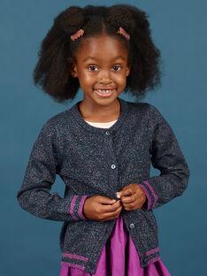 Baby Mädchen langärmelige Pailletten blaue Strickjacke MAPACAR / 21W901H1CARC205