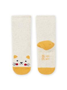 Baby Mädchen beige Katze Socken MYIJOSOQB2 / 21WI0916SOQA011