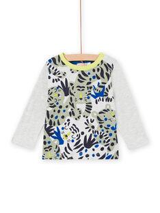 Langarm-T-Shirt für Jungen mit Tiger-Print MUKATEE1 / 21WG10I2TML006