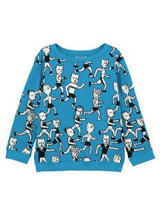 Leichtes Rundhals-Sweatshirt Türkis GOJOSWE2 / 19W90243SWBC200
