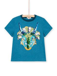 T-shirt blau Kind Junge LOVERTI5 / 21S902Q3TMC715
